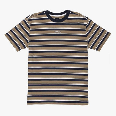 RVCA Curtis Striped Knit T-Shirt Dust Yellow