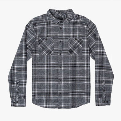 RVCA Mazzy Plaid Button-Up Flannel Black