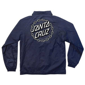 Santa Cruz Chain Dot Coach Windbreaker Navy