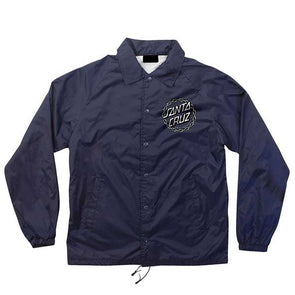 Santa Cruz Chain Dot Coach Windbreaker Navy - Xtreme Boardshop