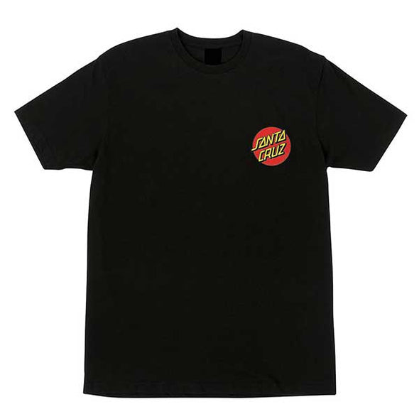 Santa Cruz Classic Dot Chest Regular S/S T-Shirt Black