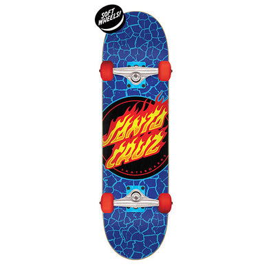 Santa Cruz Flame Dot Complete Skateboard 7.5