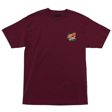 Santa Cruz Dot Blocker Regular S/S T-Shirt Burgundy