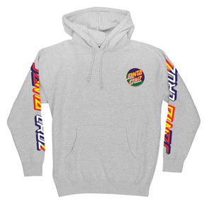 Santa Cruz Dot Blocker Pullover Hooded Sweatshirt Grey Heather