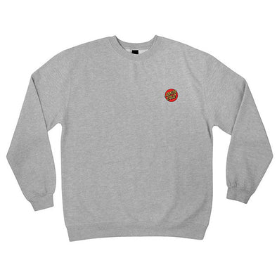 Santa Cruz Dot Embroidery Crew Neck Sweatshirt Grey Heather