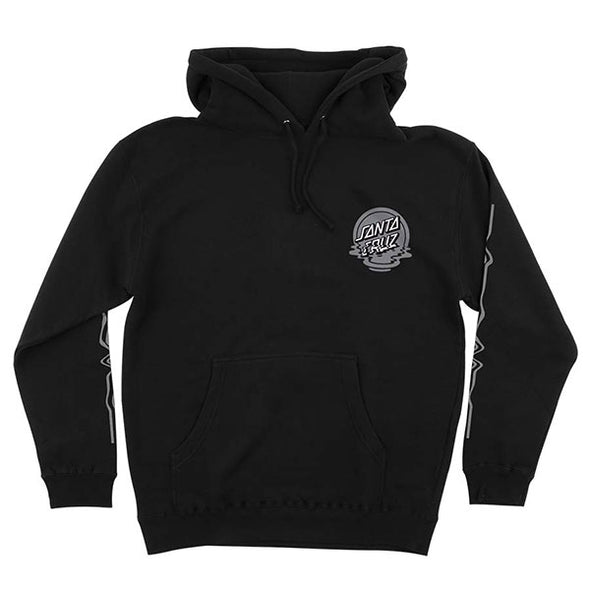 Santa Cruz Dot Reflection Pullover Hooded Sweatshirt Black