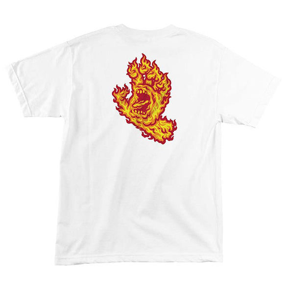 Santa Cruz Flame Hand Regular S/S T-Shirt White