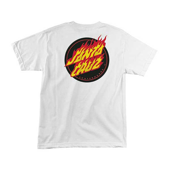 Santa Cruz Flaming Dot White - Xtreme Boardshop