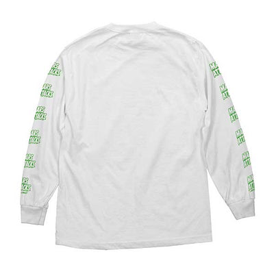 Santa Cruz Mars Attacks Martian Face L/S White - Xtreme Boardshop