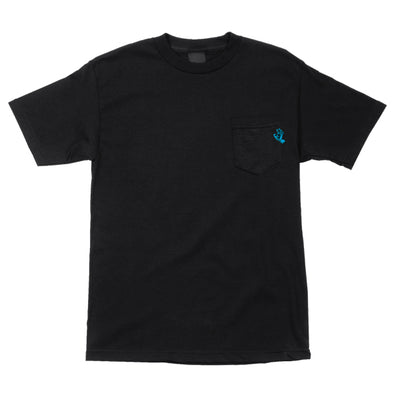 Santa Cruz Pocket Hand Pocket Regular S/S T-Shirt Black