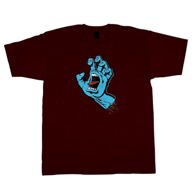 Santa Cruz Screaming Hand Premium Regular S/S T-Shirt Burgundy