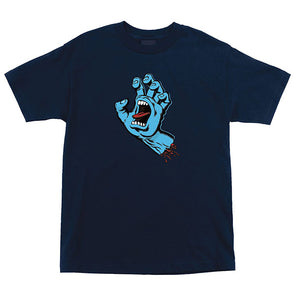 Santa Cruz Screaming Hand Premium Regular S/S T-Shirt Navy