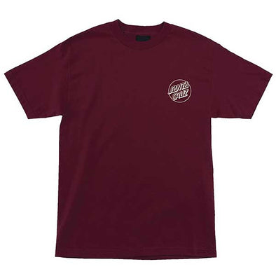 Santa Cruz Screaming Skull Regular S/S T-Shirt Burgundy