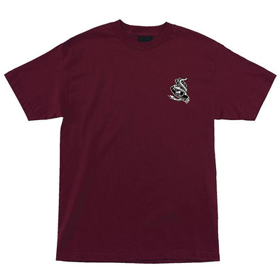 Santa Cruz Snake Bite Regular S/S T-Shirt Burgundy