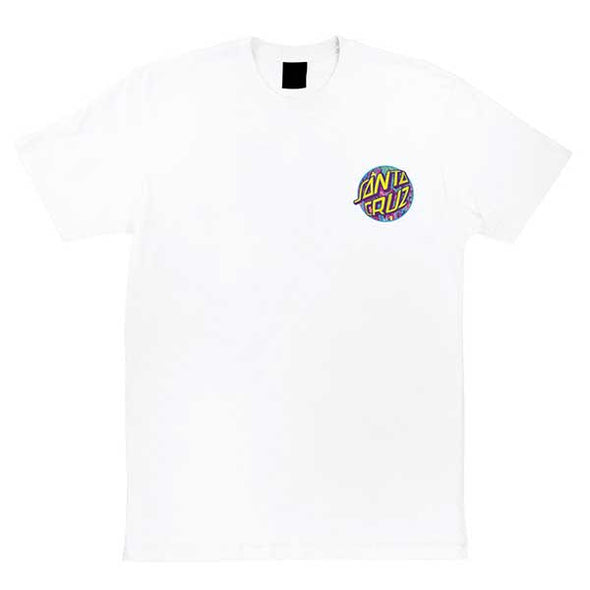 Santa Cruz Spill Dot Regular S/S T-Shirt White
