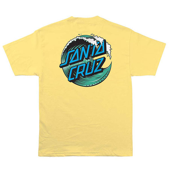 Santa Cruz Wave Dot Regular S/S T-Shirt Banana