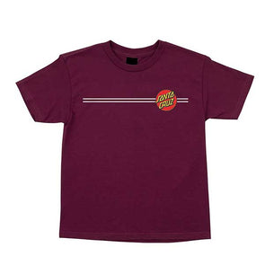 Santa Cruz Youth Classic Dot Regular S/S T-Shirt Burgundy