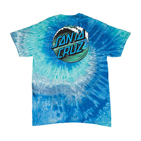 Santa Cruz Youth Wave Dot Regular S/S T-Shirt Blue Jerry