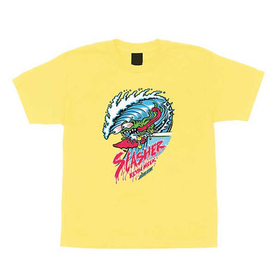 Santa Cruz Youth Wave Slasher Regular S/S T-Shirt Banana