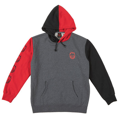 Spitfire Bighead Blocked Hood Charcoal/Red/Black