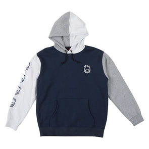 Spitfire Bighead Blocked Hood Navy/White/Grey