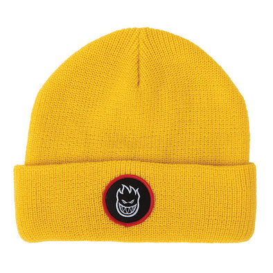 Spitfire Bighead Circle Patch Beanie Yellow