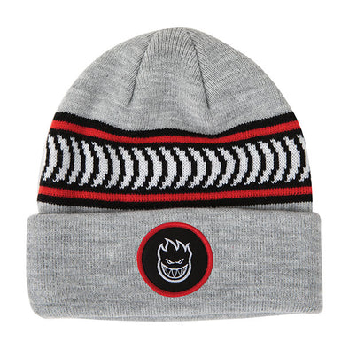Spitfire Bighead Circle Patch Classic Strap Beanie Heather Grey