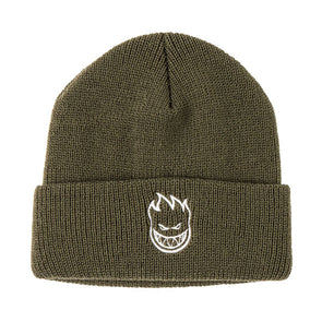 Spitfire Embroidered Cuff Beanie Olive/White