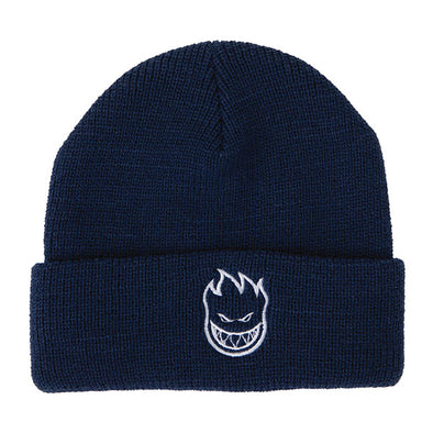 Spitfire Bighead Embroidered Cuff Beanie Navy/White