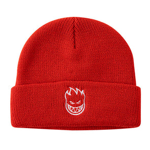 Spitfire Bighead Embroidered Cuff Beanie Red/White