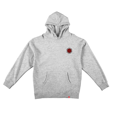 Spitfire Classic 87 Swirl Hood Grey Heather/Red