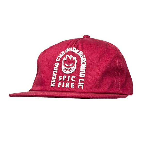 Spitfire Steady Rockin' Snapback Red - Xtreme Boardshop