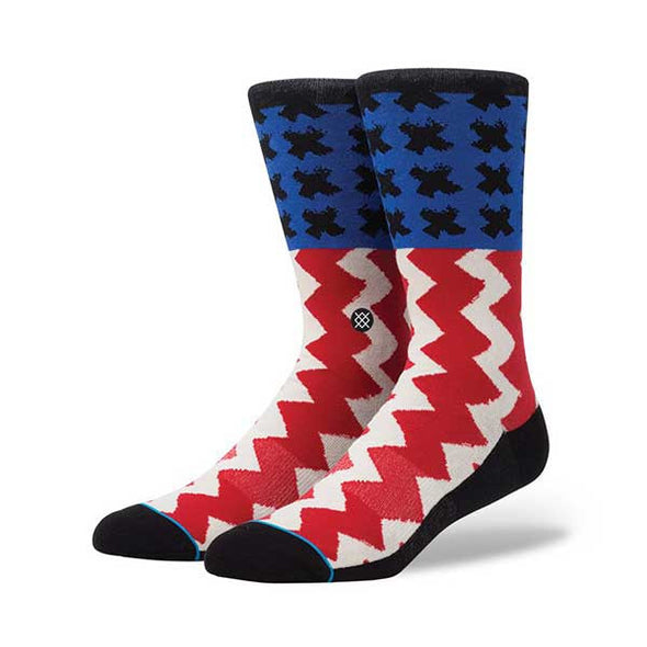 Stance Stereo Socks Off White Size L (9-12) - Xtreme Boardshop