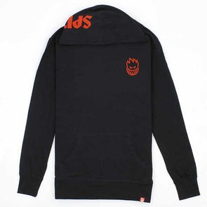 Spitfire Stock Bighead Hombre Hooded L/S Shirt Black - Xtreme Boardshop
