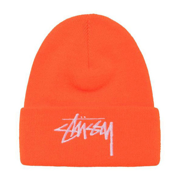 Stussy Big Stock Cuff Beanie HO20 Orange
