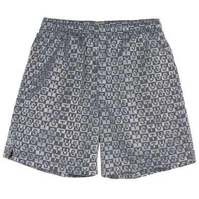 Stussy Check Nylon Short Charcoal
