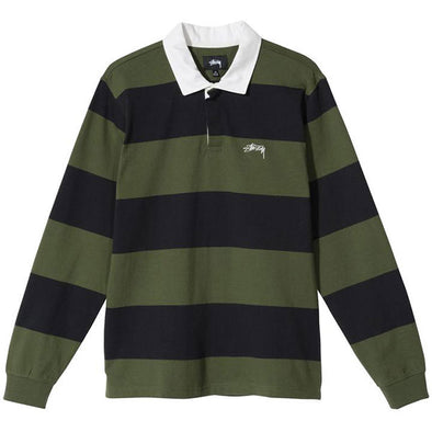 Stussy Classic Stripe Rugby Black