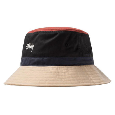 Stussy Color Block Bucket Hat Black