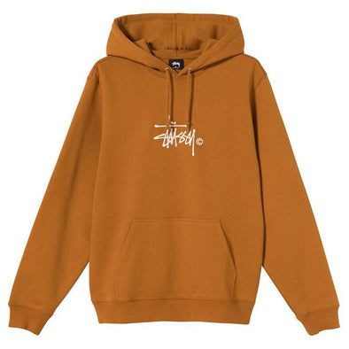 Stussy Copyright Stock Embroidered Hoodie Caramel