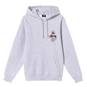 Stussy Global Roots Hoodie Ash Heather