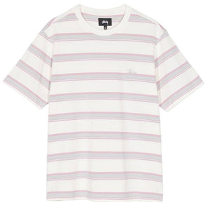 Stussy Harbour Stripe Crew Natural