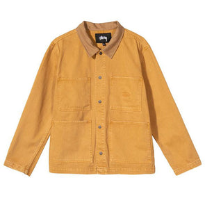 Stussy Heavy Wash Chore Jacket Gold