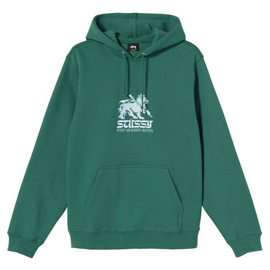 Stussy Stussy Lion Embroidered Hoodie Dark Green