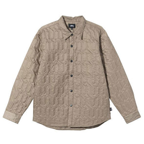Stussy Quilted Insulated LS Shirt Beige