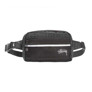 Stussy Ripstop Nylon Waist Bag Black