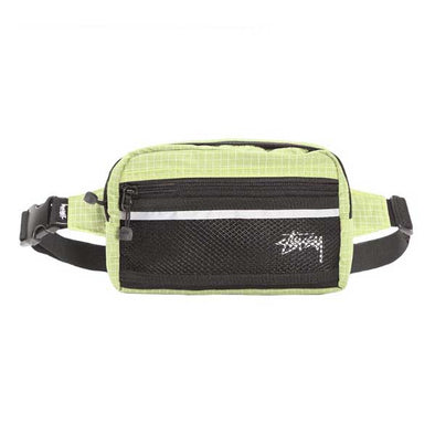 Stussy Ripstop Nylon Waist Bag Lime