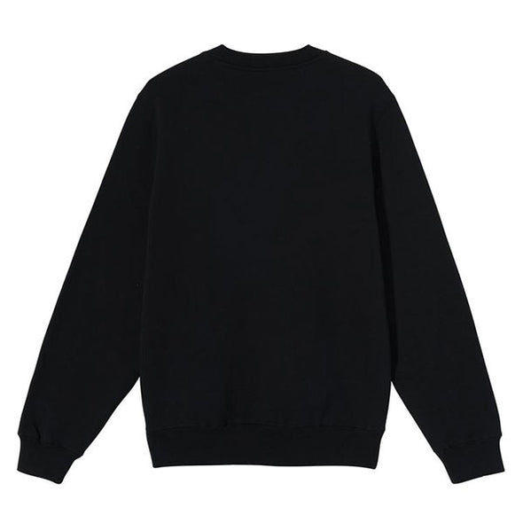 Stussy Smooth Stock Embroidered Crew Black