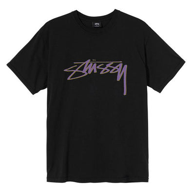 Stussy Smooth Stock Pig Dyed Tee Black