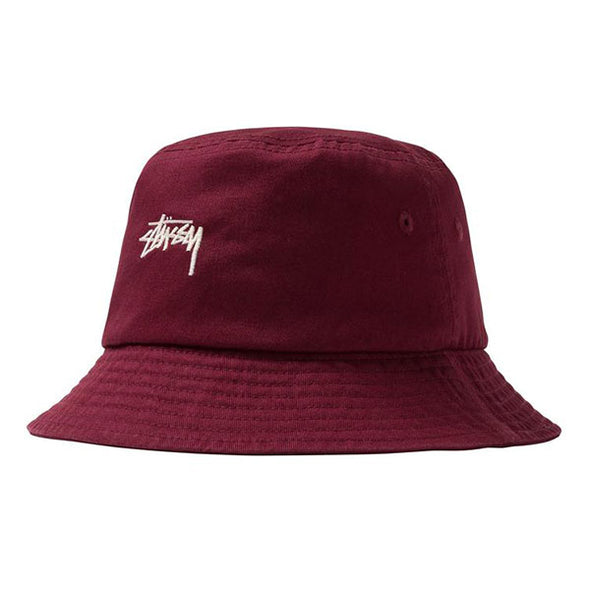 Stussy Stock Bucket Hat Burgundy