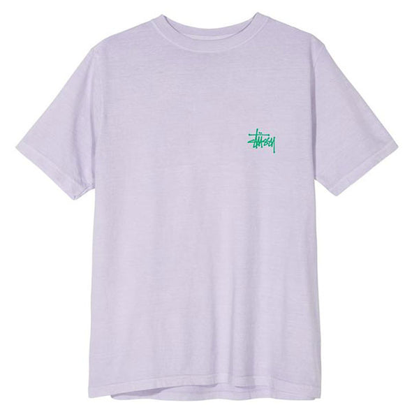 Stussy Women's Basic Stussy Pigment Dyed Tee Lavender/Green